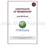 FTSE4Good Membership Certificate