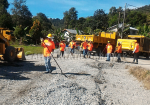 Newly-paved grounds for Dewan Kampung Serumah by RMU Tapah
