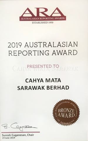 2019 ARA Reporting Award (Bronze)